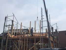棟上げ フルオーダー注文住宅 名古屋市西区